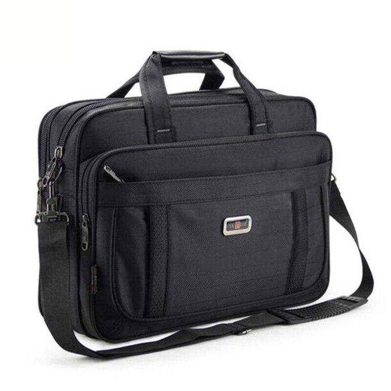 OYIXINGER Large Capacity Men Black Briefcase Shoulder Bag Business Mens 15.6 Inch Laptop Handbag Bolso Hombre Bolsa Masculina