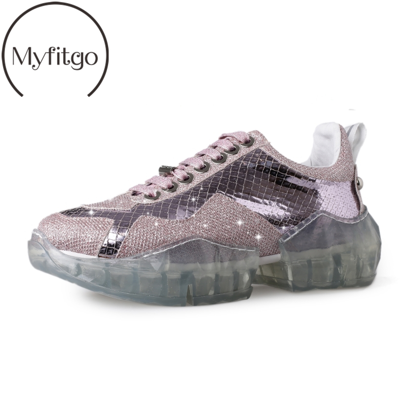 Myfitgo Bling Diamonds Silver White Shoes Women Platform Sneakers Rhinestone Spring Crystal femme Causal Walking Shoes 2019 NewMyfitgo Bling Diamonds Silver White Shoes Women Platform Sneakers Rhinestone Spring Crystal femme Causal Walking Shoes 2019 New