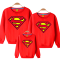 superman cotton sweater  Autumn And Winter  Family Matching Outfits mother son daughter father clothes Color optional