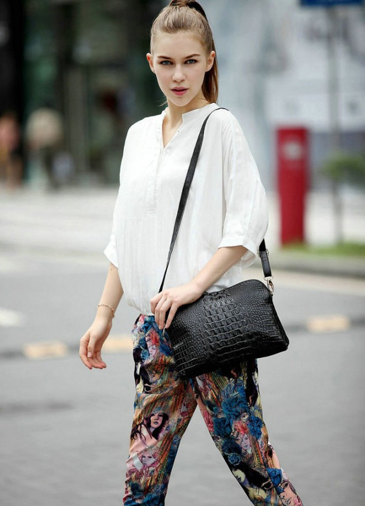 Women messenger genuine leather bags handbags for High couture brands