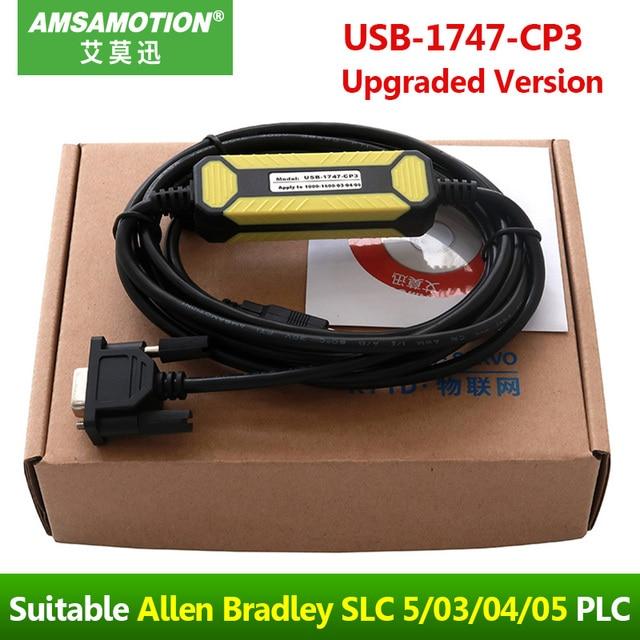 เหมาะสำหรับ ALLEN Bradley AB SLC 5/03/04/05 PLC การเขียนโปรแกรมสาย USB 1747 CP3 ดาวน์โหลดสาย