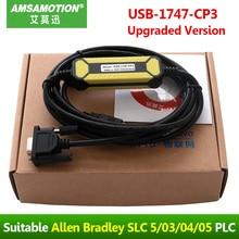 Cable de programación de PLC, Cable de descarga de USB 1747 CP3, compatible con Allen Mitchell AB SLC 5/03/04/05