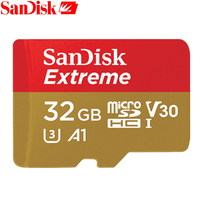 100 Original SanDisk Extreme Memory Card 32GB 16GB 64GB SDHC Class 10 U3 Micro SD TF