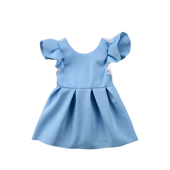 Baby Girl Tops Bow Dresses Kids Lace Ball Gown Tutu Party Dress Sundress Kids Baby Girls Toddler Princess Clothing 3M-3T 1