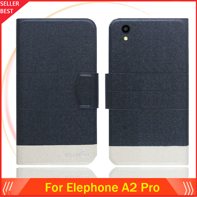 5 Colors Hot!! Elephone A2 Pro Case Customize Ultra-thin Leather Exclusive Phone Cover Book Card Slots Free Shipping