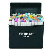 Marcadores de álcool touchnew 30/40/60/80/168 cores dupla cabeça esboço marcadores escova caneta conjunto para desenho manga design arte marcadores