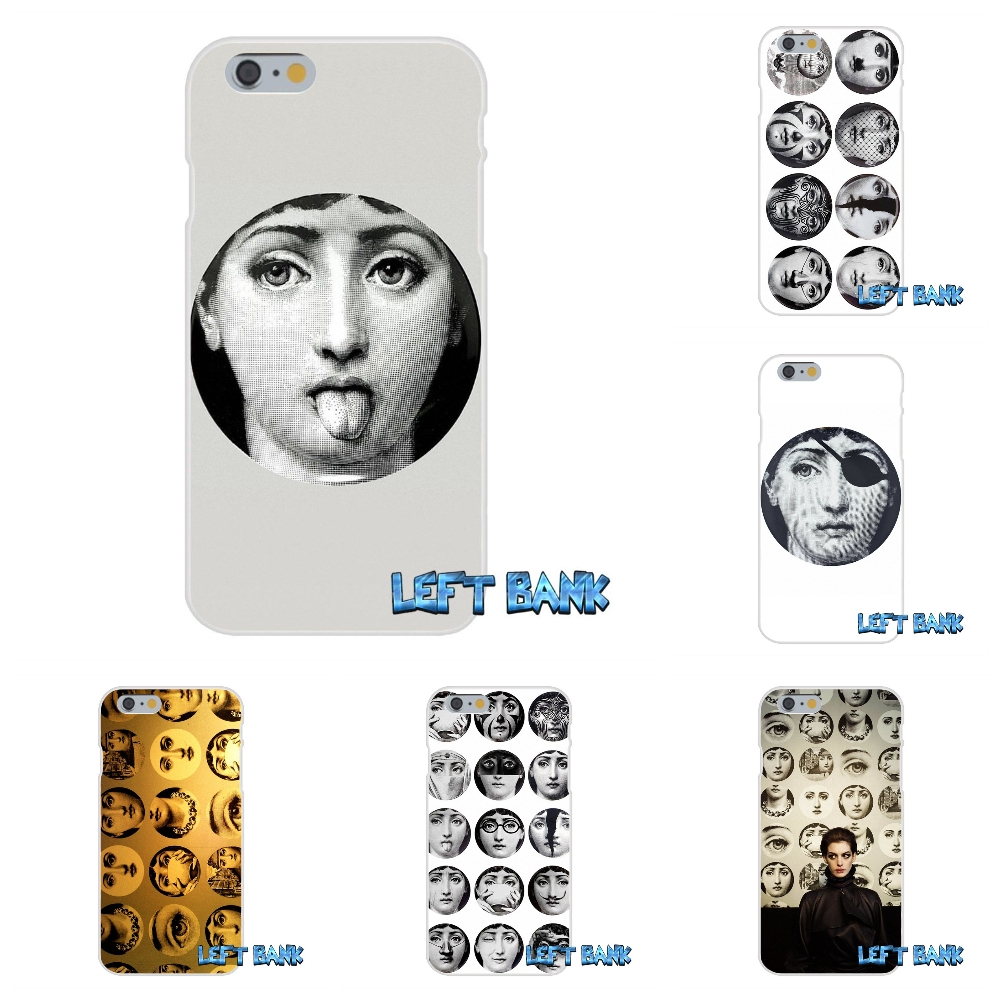 For iPhone 4 4S 5 5S 5C SE 6 6S 7 Plus Fornasetti Face Soft Silicone TPU Transparent Cover Case