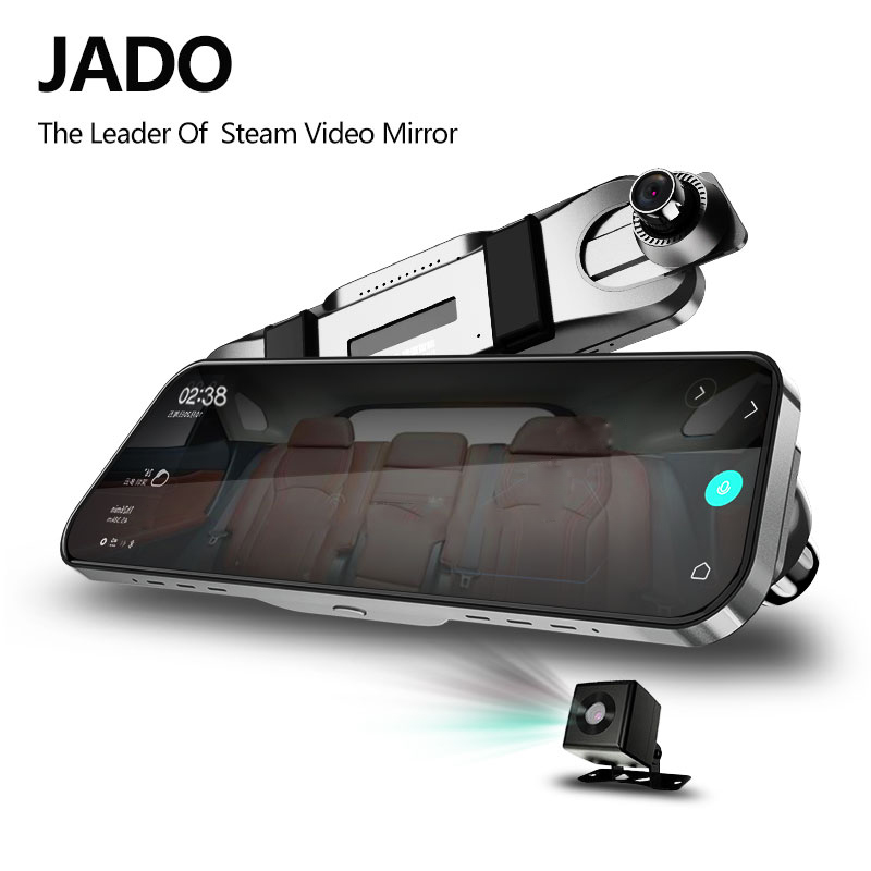 JADO D820 Flusso Specchietto retrovisore Dell'automobile Dvr del precipitare Della Macchina Fotografica avtoregistrator 10 IPS Touch Screen Full HD 1080 p Auto Registratore dash cam