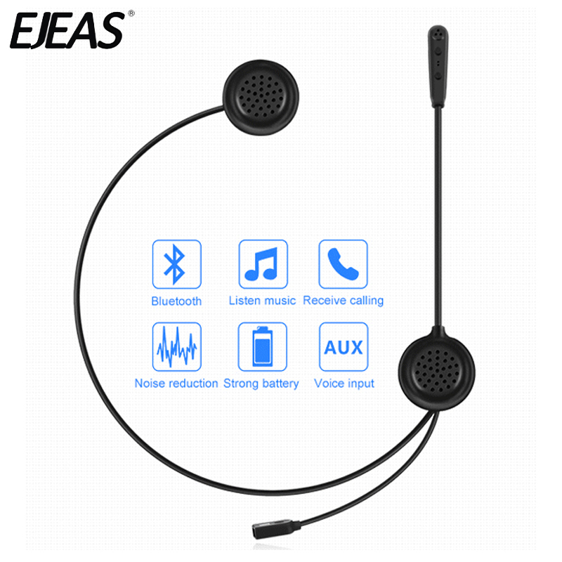 EJEAS E200 300m Bluetooth Motorcycle Helmet Headset Wireless Skiing Communication without an Intercom Moto for Two Riders