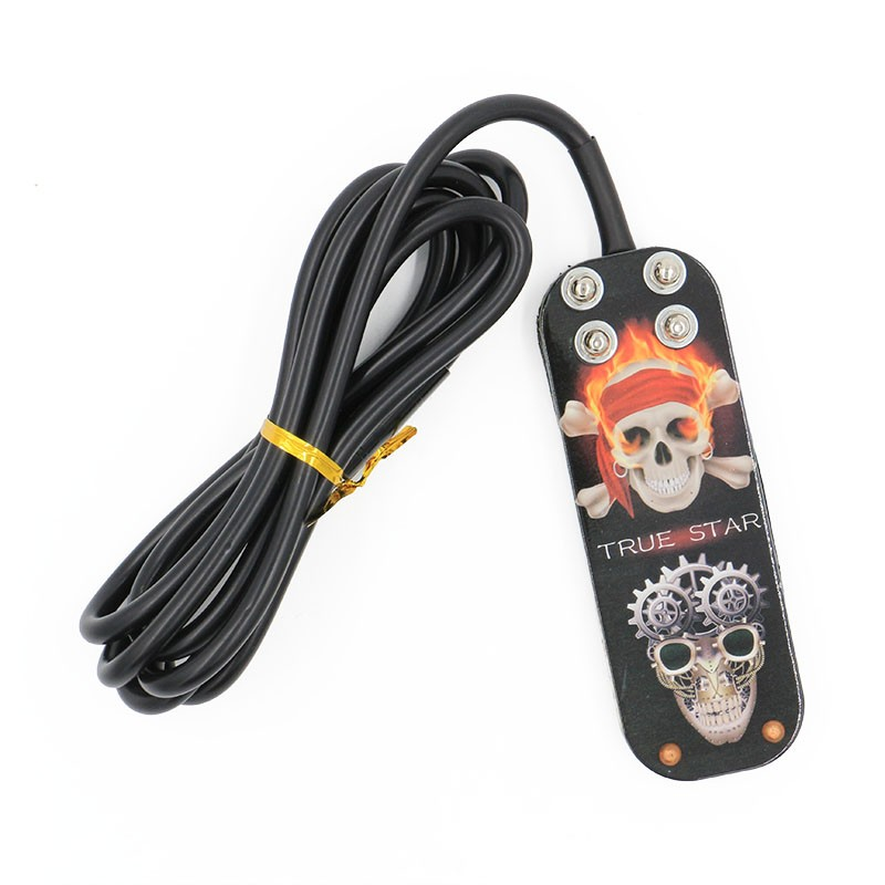 New Stainless Steel Tattoo Foot Pedal Switch Machine Fireproof Silicone Wire Power Supply Superb Control FootNew Stainless Steel Tattoo Foot Pedal Switch Machine Fireproof Silicone Wire Power Supply Superb Control Foot