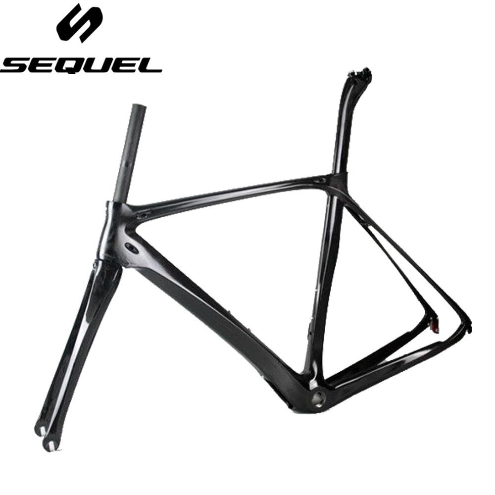 SUITE cadre de vélo en fibre de carbone Toray T800 telaio carbonio 2017 Di2 et Mécanique À La Fois prix d'usine conique carbone cadre de vélo