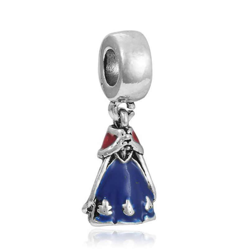 Pulseira Fit encantos da princesa sieraden perfumes originales mujer bijoux 925 prata contas de colar charme jóias