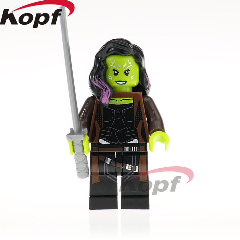 Single Sale Super Heroes Infinity War Figure Gamora Doctor Stranger Proxima Night Ebony Maw Building Blocks Children Toys XH 824