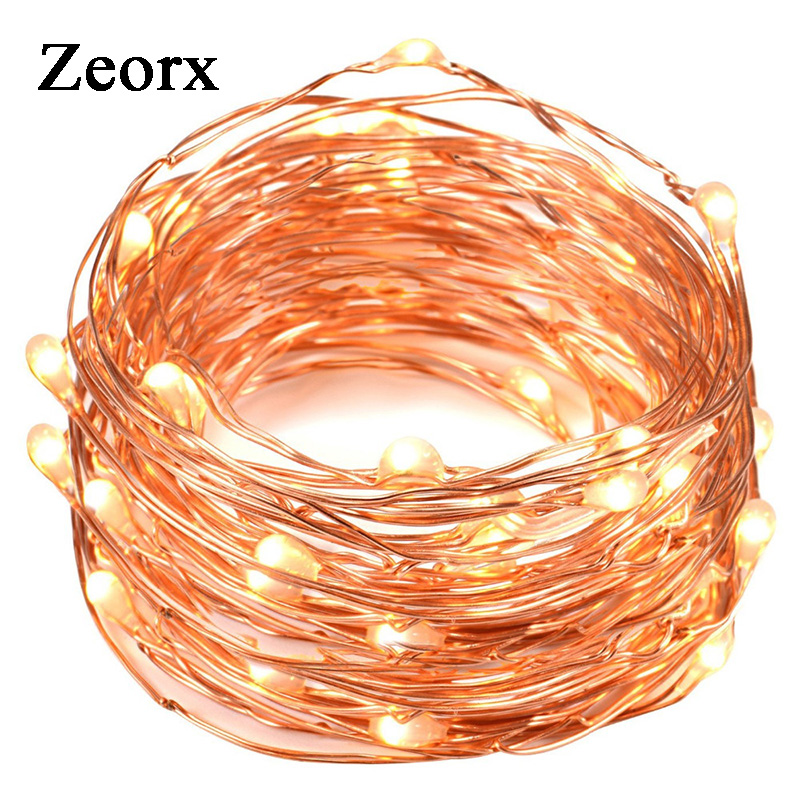 Provided 2pcs 30 Leds Copper Wire Lights 9.8ft/3m String Lights For Christmas Light Festival Wedding Party Or Home Decoration Lamp Waterproof Shock-Resistant And Antimagnetic Lights & Lighting