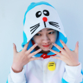 Jingle Cat Doraemon Onesies Pajamas Animal Halloween Costume Pyjamas Cartoon Sleepwear Women Pijama Plus Size