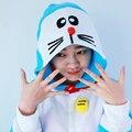 Jingle de Gato Doraemon Onesies Pijama Animal Traje de Halloween Dos Desenhos Animados Pijamas Sleepwear Mulheres Pijama Plus Size
