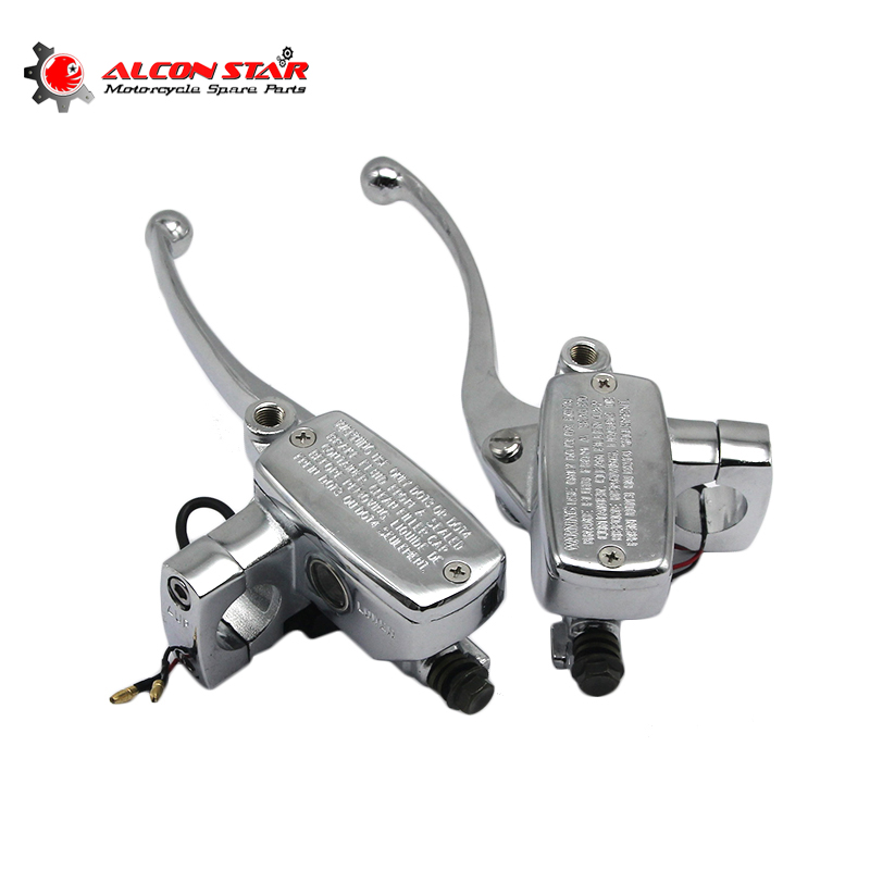 Set of 1/'/' 25mm Motorcycle Hydraulic Brake Clutch Levers Master Cylinder NEW
