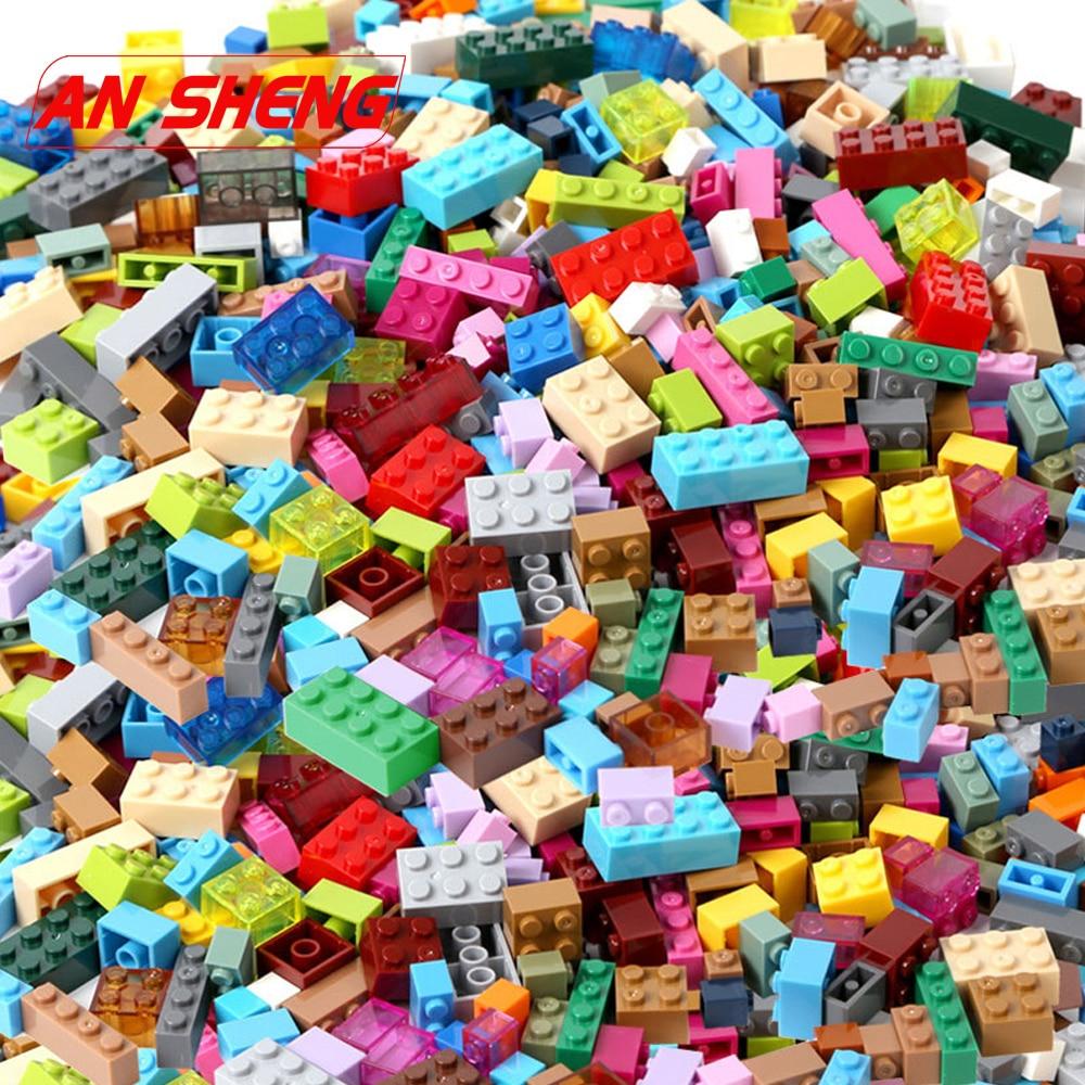 1000/750/500/250 PCS Building Blocks Bricks Set Creator City DIY Creative Toys Educational Bulk Bricks Duploe Legoes