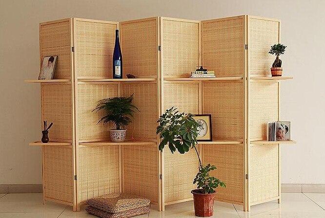 bamb tejido de alto grado de proteccin ambiental biombo de madera maciza dormitorio porche de plegado en de en alibaba group