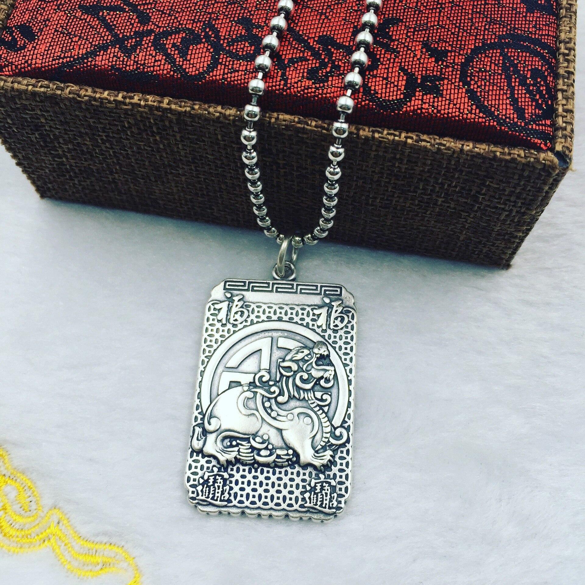 S990 silver pendant generous desire to make money sweater chain pendantS990 silver pendant generous desire to make money sweater chain pendant
