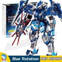 3D Metal Puzzle Super Heroes Blue Magnetic Rotation Classic Metallic Gundam Robots Figures Model Assemble Teenagers Toys Jigsaw