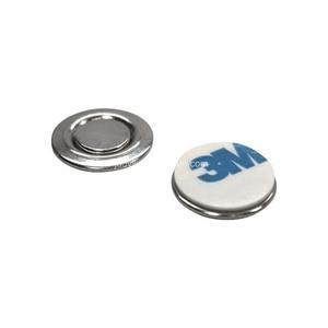 Image 5 - 50 יח\חבילה עגול מגנט עם דבק לכפתורים שם תגי דש סיכות משלוח חינם
