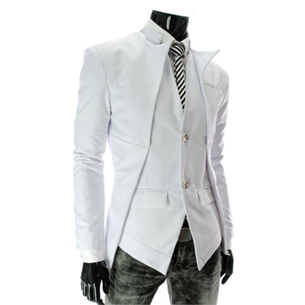 Men's Pure Color Small Suit Coat Men's Casual Jackets Personality Slim Fit Suit Americana Hombre Blazers Men Suits LB