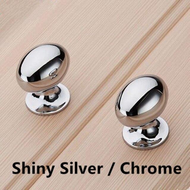 10 stücke moderne einfache mode möbel knopf shiny silber schublade ...