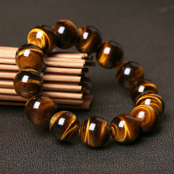 Natural Tiger's Eye Stone Bead Bracelet