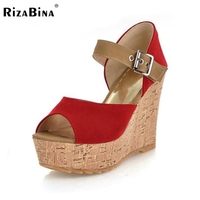 CooLcept Free Shipping Quality Wedge Sandals Platform Women Sexy Fashion Lady Female Shoes P12296 Hot Sale