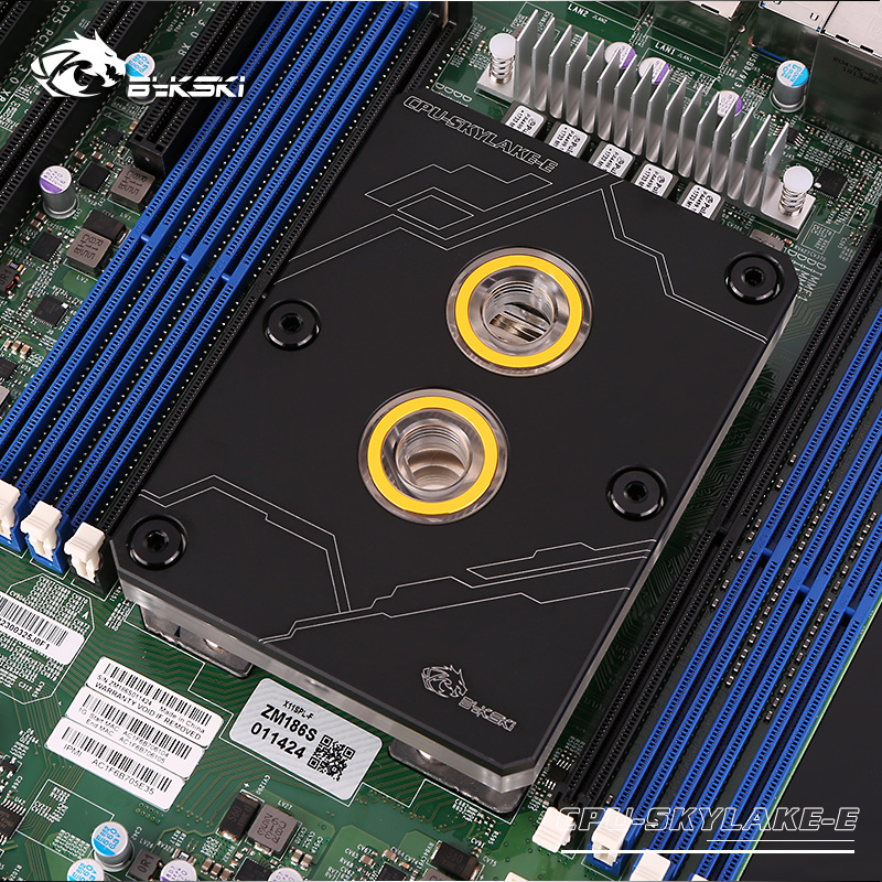 Bykski CPU Water Block for Intel LGA3647 SKYLAKE Black Rectangle no light water cooler Liquid Cooling
