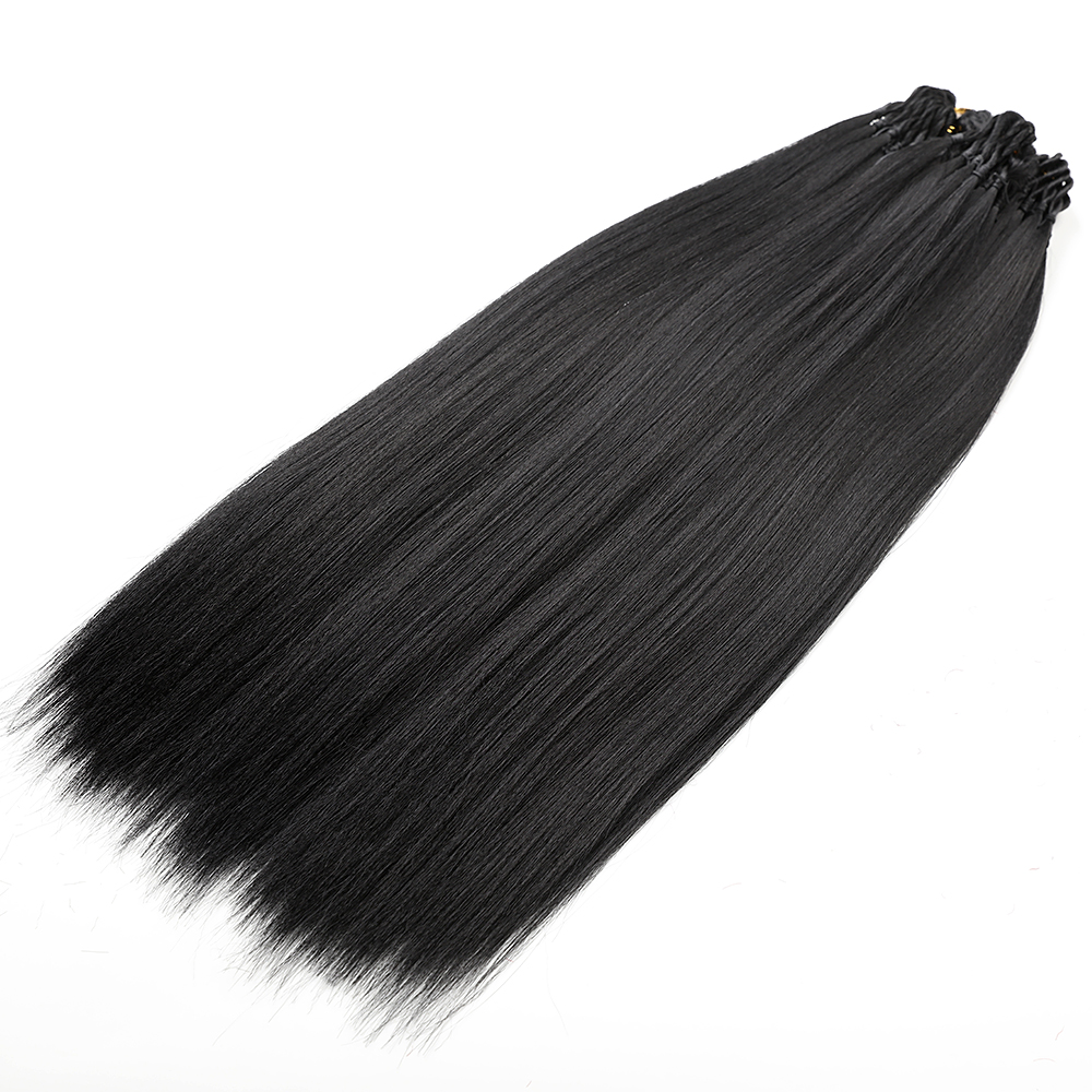 Element Synthetic Hair Bundles 20 Inch Long Straight Hair Weft Pure Black Color Hair Extensions Free Shipping 3 Pcs/lot