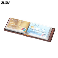 New Sale Fashion Hasp Cover Credit Card Bags Leather Purse Bank 16 ID Card Case Business