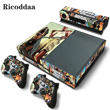 GTA V For Xbox one Console Skins Vinyl Sticker Protector Wrap Decal For Microsoft Xbox one Game Accessory Controller Skin Cover