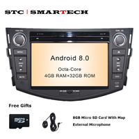 SMARTECH 2 Din Android 8 0 OS Car DVD Player GPS Navigation Autoradio For TOYOTA RAV4