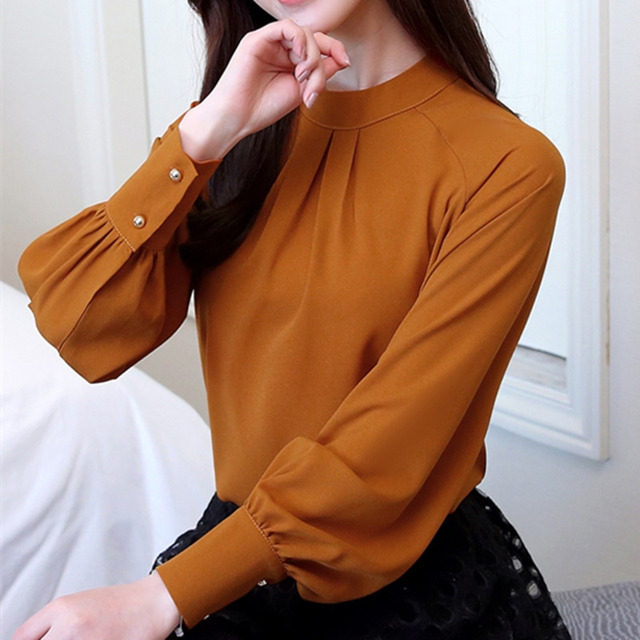 ec49d337 New Autumn 2018 Womens Tops and Blouses Long Sleeve Chiffon Blouse Mujer  Fashion Women Shirts Ladies Tops Shirt Camisa Feminina