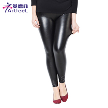 New 2016 Thickening Black Leather Boots Leggings Skinny Pants Winter Warm Women's Trousers Winter Pants