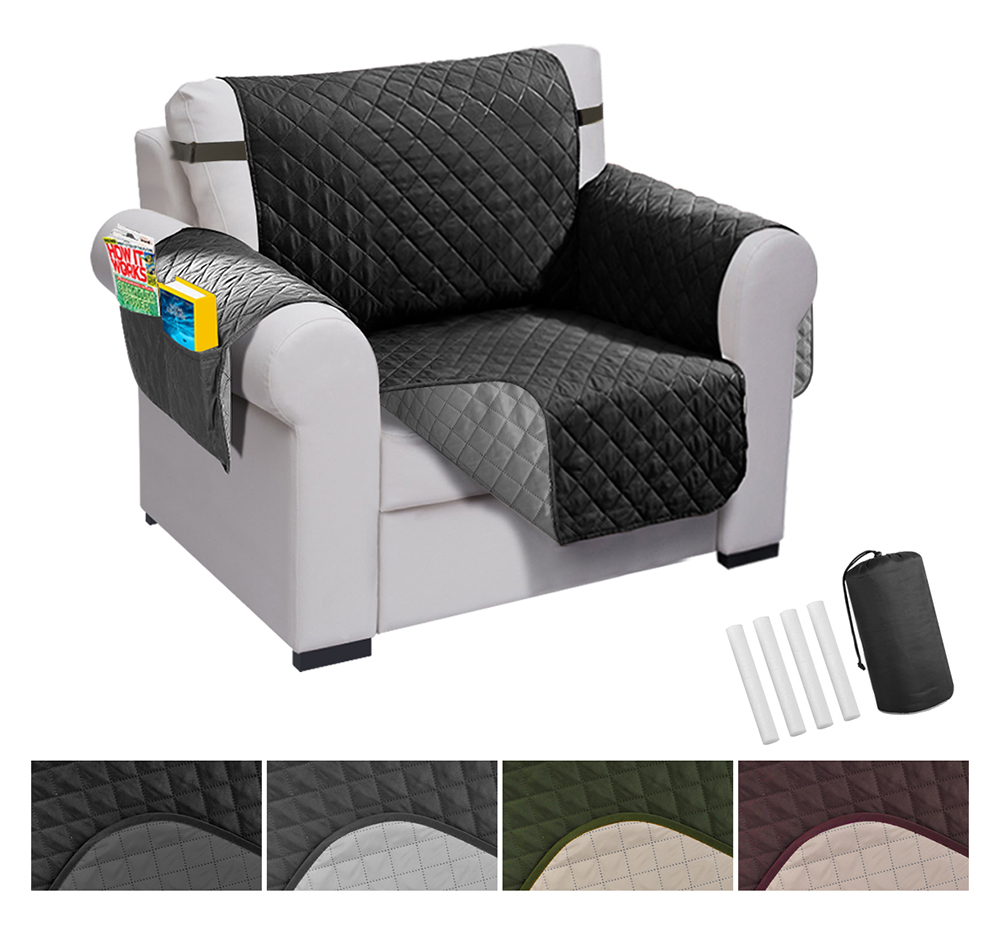 Best Sofa Upholstery For Pets: Chair Recliner Cover Pet Dog And Kids Waterproof Quilted