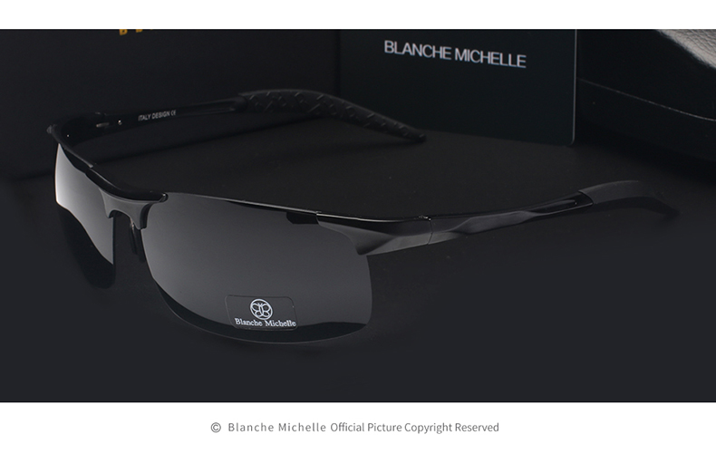 High Quality Ultra-light Aluminum Magnesium Sport Sunglasses Polarized Men UV400 Rectangle Gold Outdoor Driving Sun Glasses 7