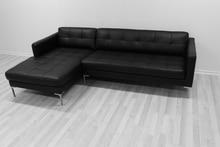 Muebles de colores, sofá seccional de cuero, estilo moderno esquina sofá de la sala
