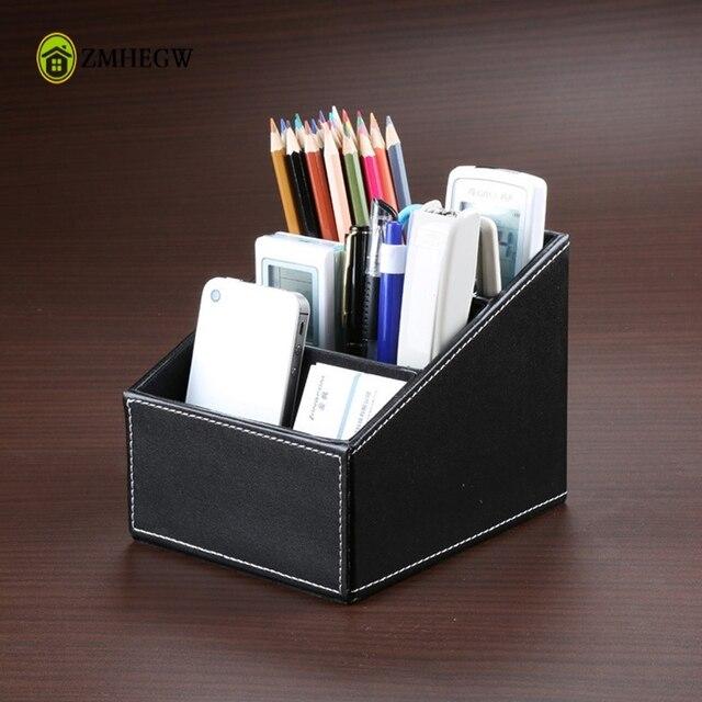 Delicieux Luxury Leather Phone/TV Remote Control Storage Box Home Desk Organizer  Holder Desk Organizer Makeup