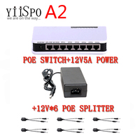 YiiSPO 8 Port Poe Switch 6 2 Ports DC Desktop Ethernet Switch Network IP Cameras Powered