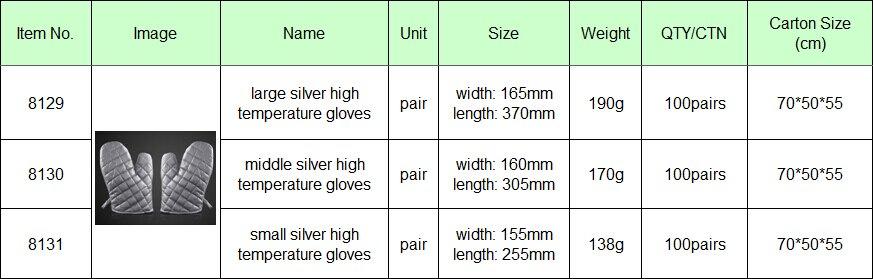 ᗖBAKEST серебряные термостойкие перчатки печь анти-крутые ...