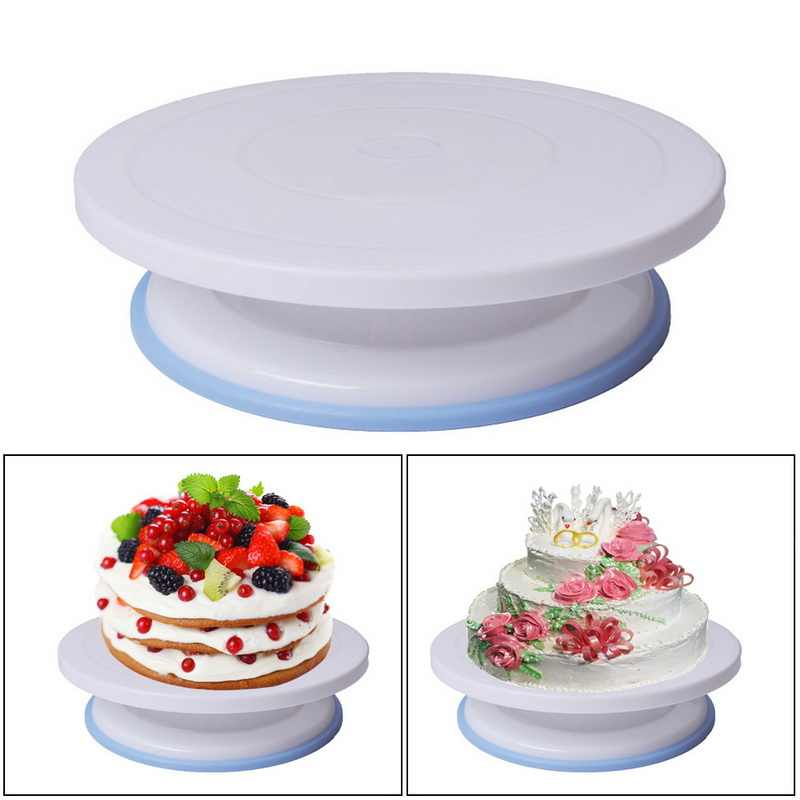 1pcs עוגת צלחת מסתובב עגול עוגת קישוט כלים DIY עוגת פטיפון אפיית עובש רוטרי שולחן ספקי מאפה עוגת Stand