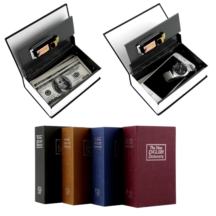 Hidden Secret Book Dictionary Cash Money Box  Design Valuables Safety Security