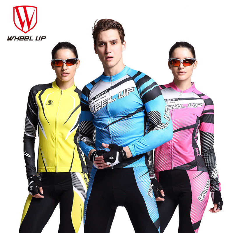 WHEEL UP Spring Breathable Quick-drying Cycling Clothes Suit Man Anti-sweat Long Sleeve Bicycle Riding Trouser Bicycle Clothing
