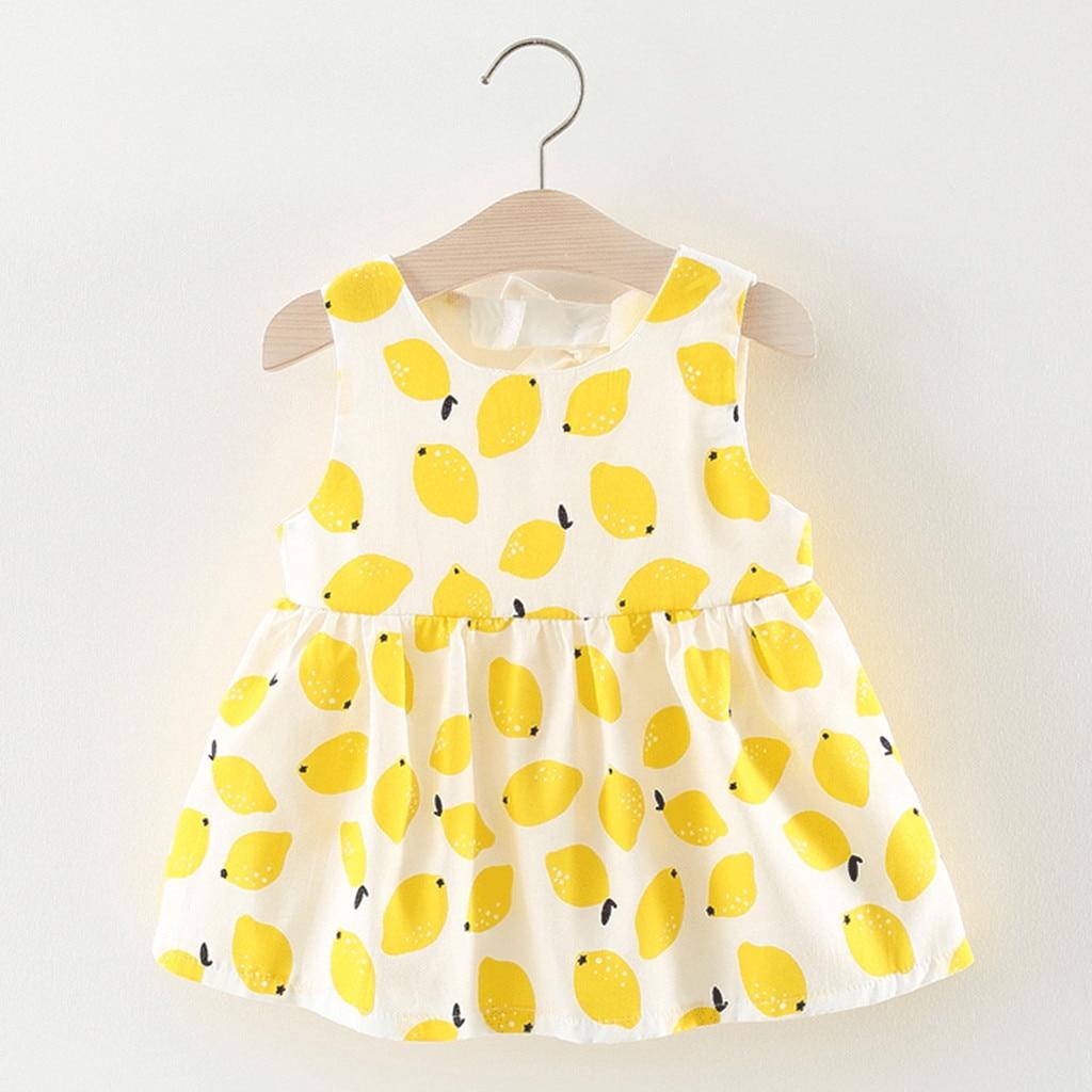 Cute Dinosaur Newborn Kid Baby Girl Cotton Sleeveless Dress Sundress Clothes Rac