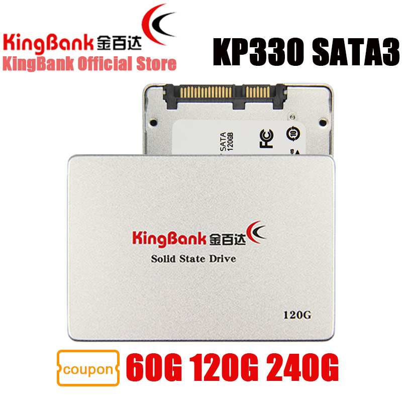 KingBank SSD KP330 SATA3 2.5'' 60GB 120GB 240GB Internal Solid State Drive Hard Drive Disk HD HDD 2.5 inch Laptop 120 GB 240 GB