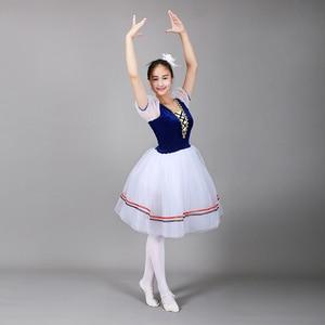 Image 5 - Giselle Ballet Long Tutu Swan Lake Ballet Costume Adults Women Professional Romantic Dress Ballerina Kids Children Dancewear