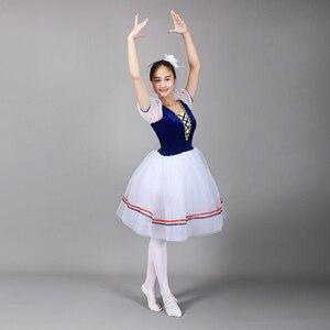 Image 5 - Giselle Ballet Tutu Lungo il Lago Dei Cigni Balletto Costume Adulti Delle Donne Professionali Vestito Romantico Ballerina Bambini I Bambini Dancewear